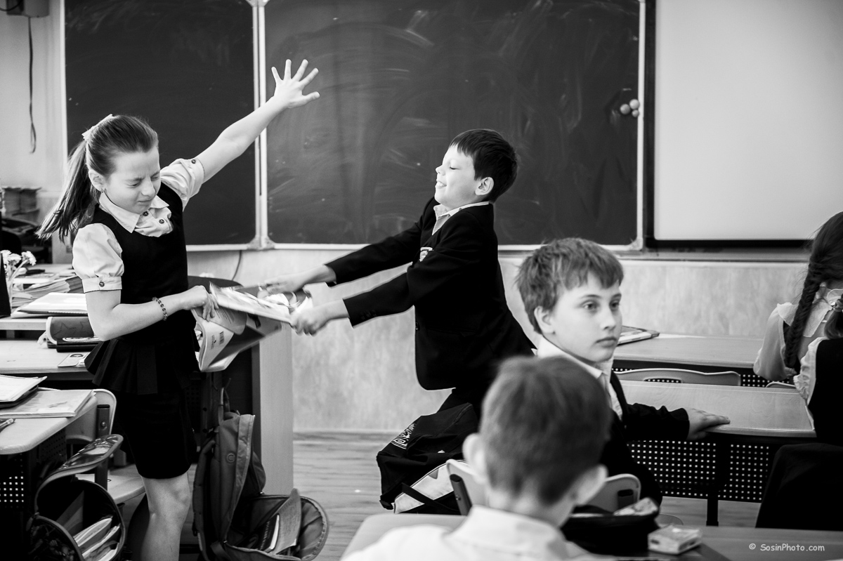 Школьники на перемене